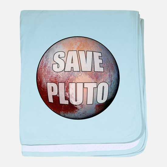 Save Pluto baby blanket