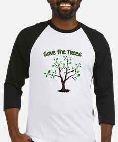 Save the Trees Baseball Jersey