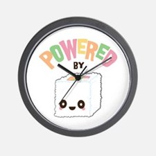 Powered by Sushi Wall Clock