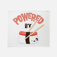 Powered by Nigri Sushi Throw Blanket
