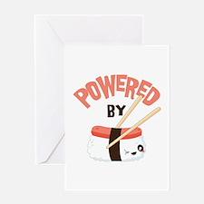 Powered by Nigri Sushi Greeting Card