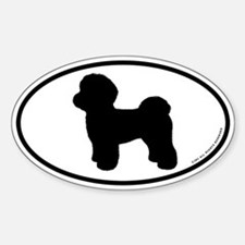 Maltese Silhouette Oval Decal