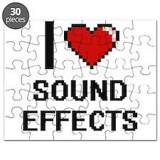 I love Sound Effects Digital Design Puzzle