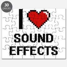 I love Sound Effects Digital Design Puzzle