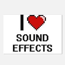 I love Sound Effects Digi Postcards (Package of 8)