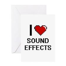 I love Sound Effects Digital Design Greeting Cards