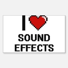 I love Sound Effects Digital Design Decal