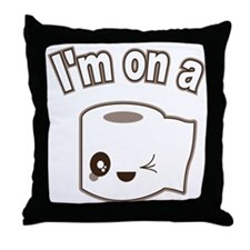 I'm on a Roll Throw Pillow