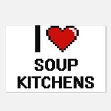 I love Soup Kitchens Digi Postcards (Package of 8)