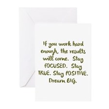 Eye On The Prize Dream BIG Design Greeting Cards
