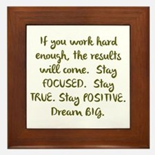 Eye On The Prize Dream BIG Design Framed Tile