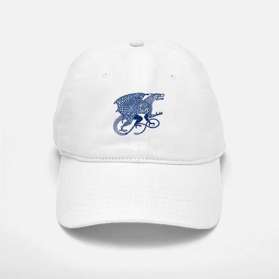 Celtic Knotwork Dragon, Blue Baseball Baseball Cap