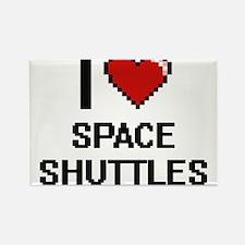 I love Space Shuttles Digital Design Magnets