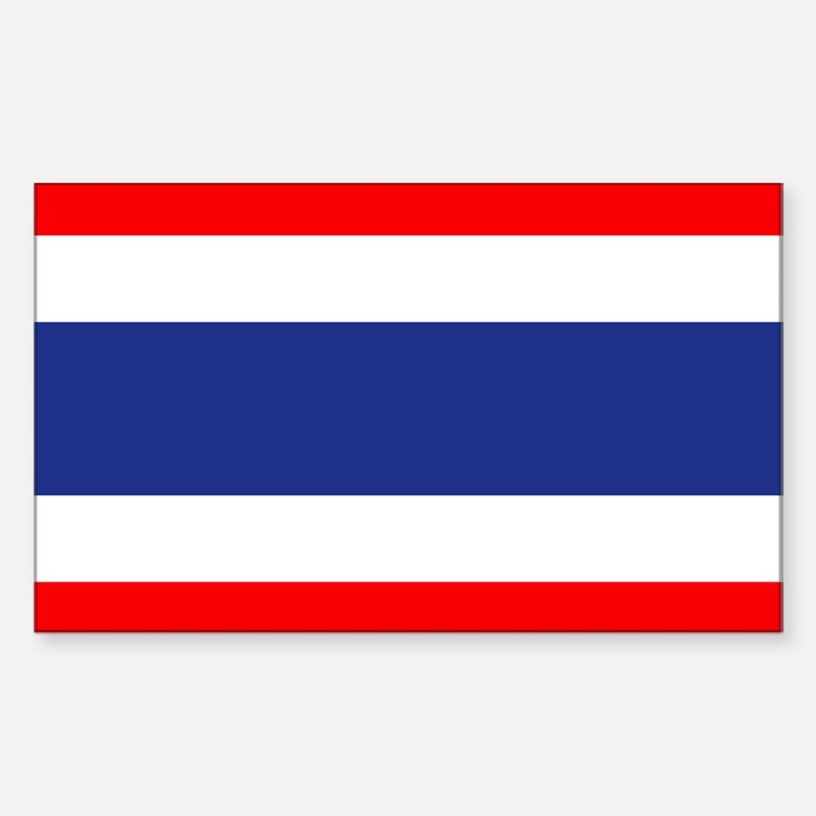 Thai Flag Rectangle Decal