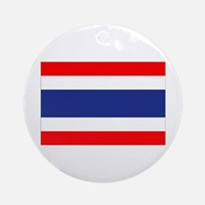 Thai Flag Ornament (Round)