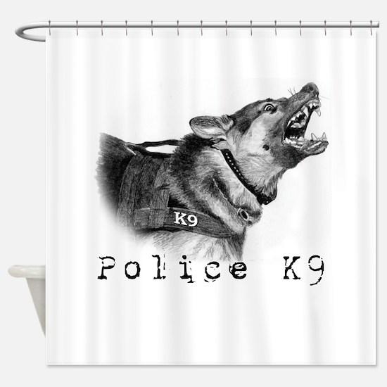 Unique Police k9 Shower Curtain