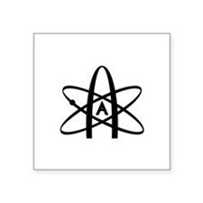 "Cute Athiest symbol Square Sticker 3"" x 3"""