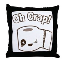 Oh Crap Throw Pillow