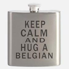 Keep Calm And Belgian Designs Flask