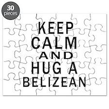 Keep Calm And Belizean Designs Puzzle