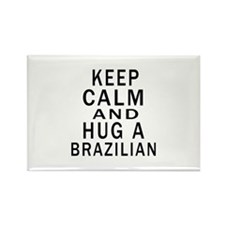 Keep Calm And Brazilian Designs Rectangle Magnet