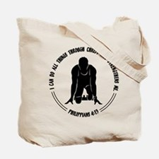 PHIL.4:13 - RUN (both sides) Tote Bag