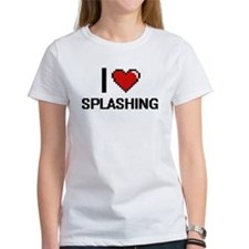 I love Splashing Digital Design T-Shirt