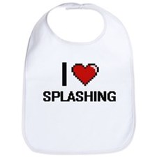 I love Splashing Digital Design Bib