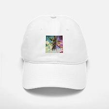 Abstract Rainbow Palm Tree Baseball Baseball Cap