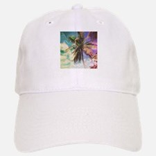 Abstract Rainbow Palm Tree Cap