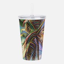 Abstract Rainbow Palm Acrylic Double-wall Tumbler