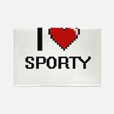 I love Sporty Digital Design Magnets