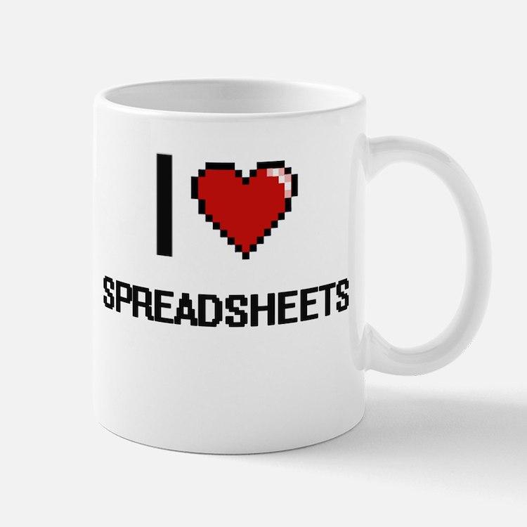 I love Spreadsheets Digital Design Mugs