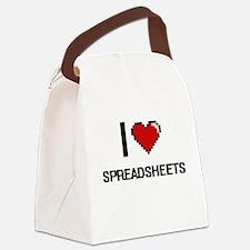 I love Spreadsheets Digital Desig Canvas Lunch Bag