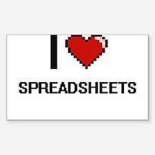 I love Spreadsheets Digital Design Decal