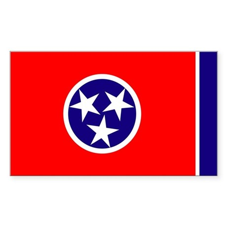 Tennessee Flag Rectangle Sticker