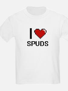 I love Spuds Digital Design T-Shirt