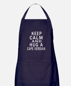 Keep Calm And CAPE VERDIAN Designs Apron (dark)