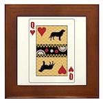 Queen Leo Framed Tile
