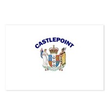 Castlepoint, New Zealand Coat Postcards (Package o