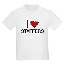 I love Staffers Digital Design T-Shirt