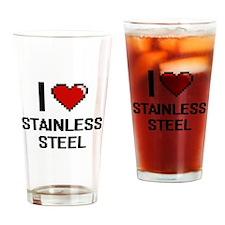 I love Stainless Steel Digital Desi Drinking Glass
