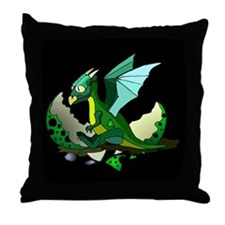Dragon Hatching Throw Pillow