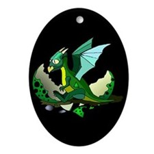 Dragon Hatching Oval Ornament
