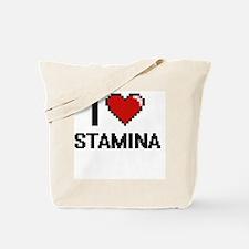 I love Stamina Digital Design Tote Bag