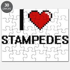I love Stampedes Digital Design Puzzle