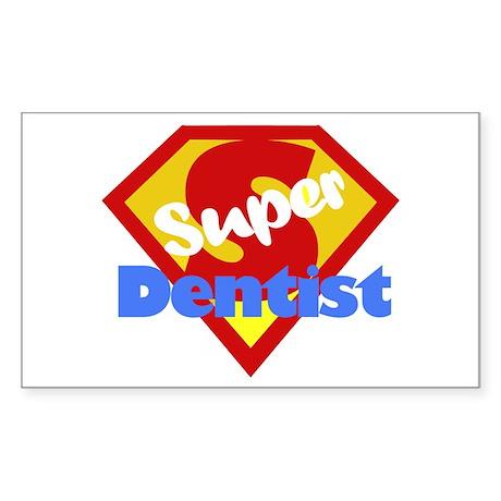 Super Dentist DDS Rectangle Sticker