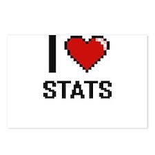 I love Stats Digital Desi Postcards (Package of 8)