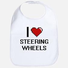 I love Steering Wheels Digital Design Bib