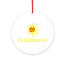 Christchurch, New Zealand Ornament (Round)